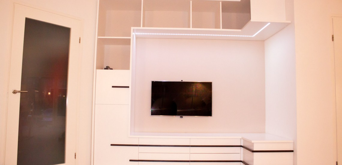 woonkamer wandkast smal. Black Bedroom Furniture Sets. Home Design Ideas